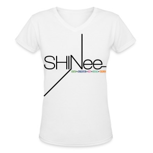 [SHINee] 1st Mini (Vneck) - Women's V-Neck T-Shirt