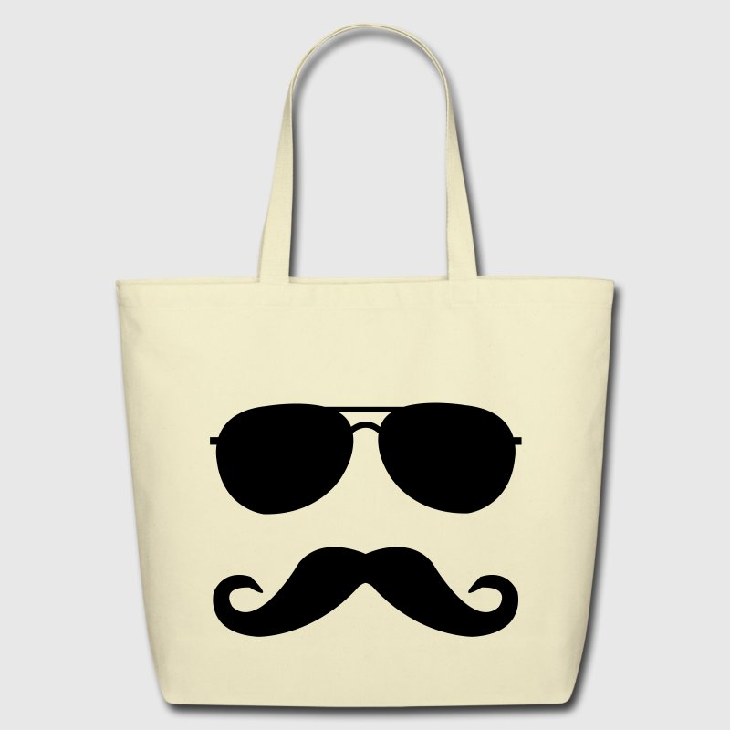 mustache and glasses Bags  - Eco-Friendly Cotton Tote