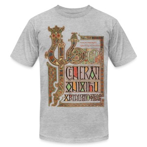 Lindisfarne Gospels; Introduction to Gospel of Matthew - Men's Fine Jersey T-Shirt