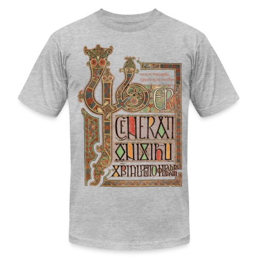 Lindisfarne Gospels; Introduction to Gospel of Matthew - Men's T-Shirt by American Apparel