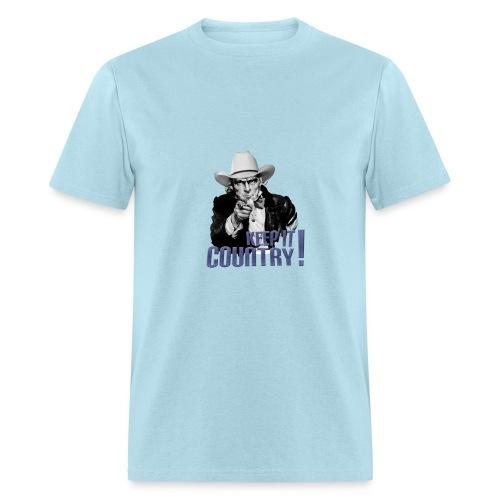 Keep It Country Uncle Sam Denim Font #2 - Men's T-Shirt