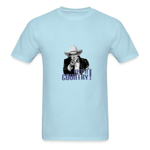 Keep It Country Uncle Sam Denim Font #2 - Men's T-Shirt