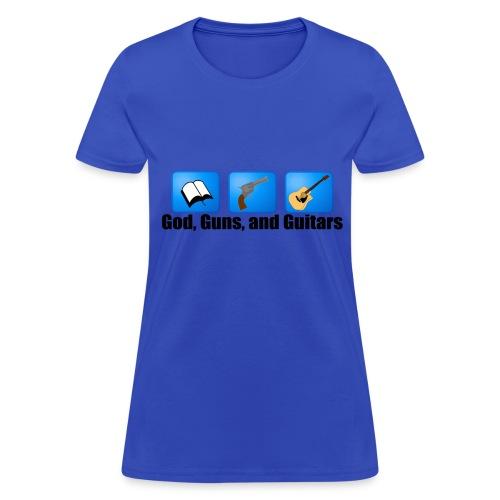 God, Guns, and Guitars (Ladies) - Women's T-Shirt