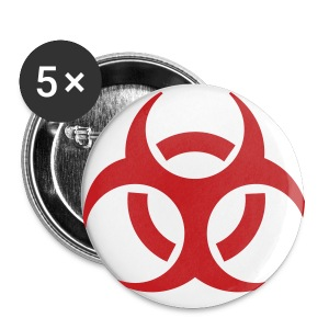 Biohazard Small Buttons 5pk - Small Buttons