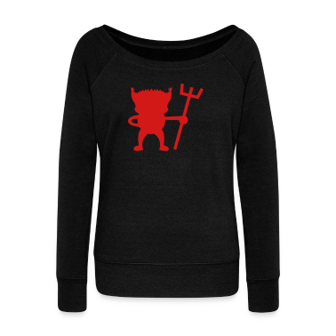 red devil cute with Pitchfork Long Sleeve Shirts
