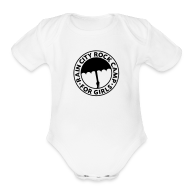 Baby Bodysuits ~ Baby Short Sleeve One Piece ~  : White