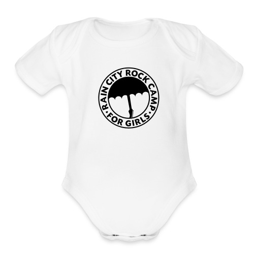 : White - Organic Short Sleeve Baby Bodysuit