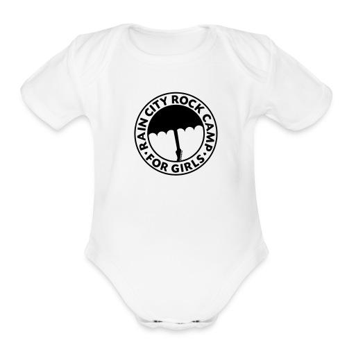 : White - Organic Short Sleeve Baby Bodysuit