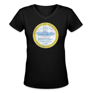 Bostonia - Women's V-Neck T-Shirt