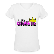 Women's T-Shirts ~ Women's V-Neck T-Shirt ~ Official Champette