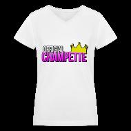 Women's T-Shirts ~ Women's V-Neck T-Shirt ~ Official Champette