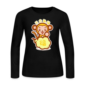 Lucky Monkey - Women's Long Sleeve Jersey T-Shirt