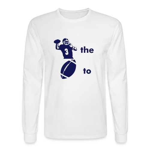 Throw the ball to Butler - Men's Long Sleeve T-Shirt