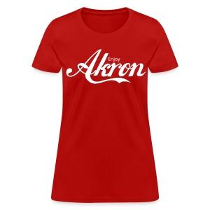 Enjoy Akron - Red - Women's T-Shirt