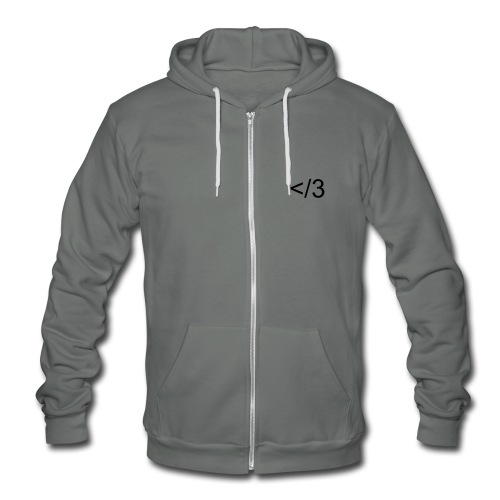 Heartbreaker Zip Hoody *Black Heart* - Unisex Fleece Zip Hoodie
