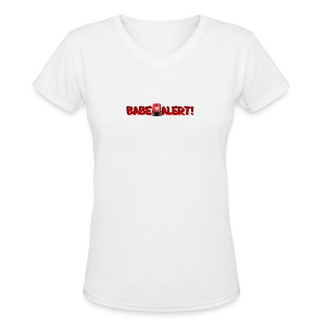 Silly Catch Phrases (Babe Alert) - Women's V-Neck T-Shirt