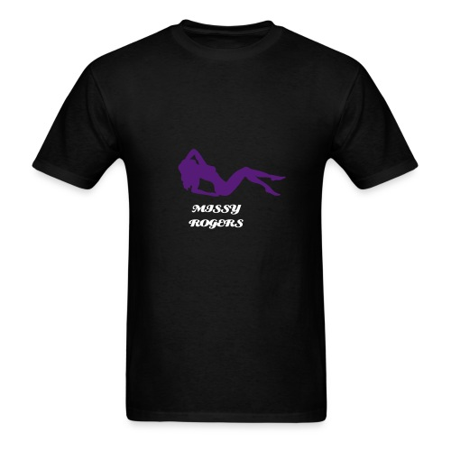 Missy Rogers tee with Female Body Inspector on the back for Guys ! - Men's T-Shirt