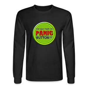 Real Funny Phrases (Panic Button) - Men's Long Sleeve T-Shirt