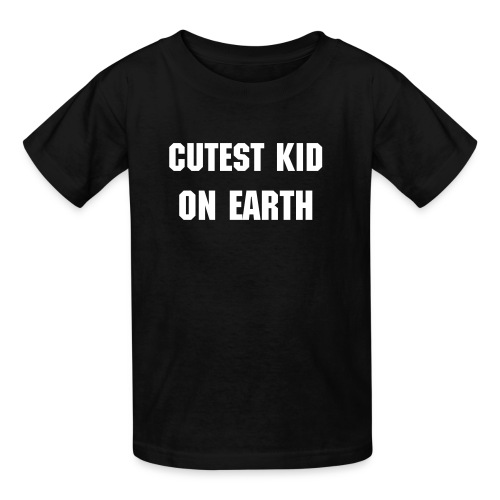 Kids/Cutest Kid On Earth (black) - Kids' T-Shirt