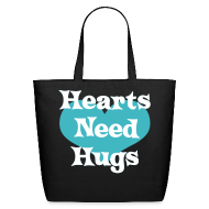 Bags & backpacks ~ Eco-Friendly Cotton Tote ~ Hearts Need Hugs