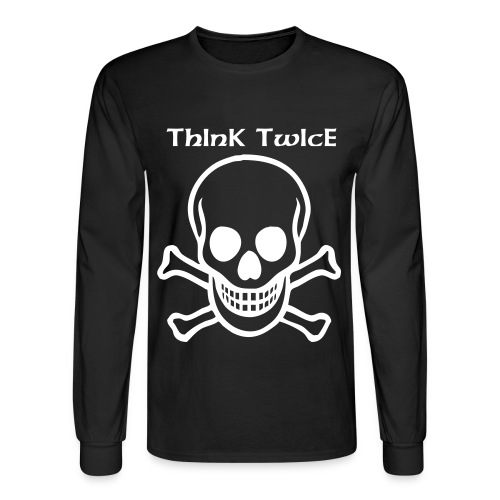 Think Twice Long Sleeves - Men's Long Sleeve T-Shirt