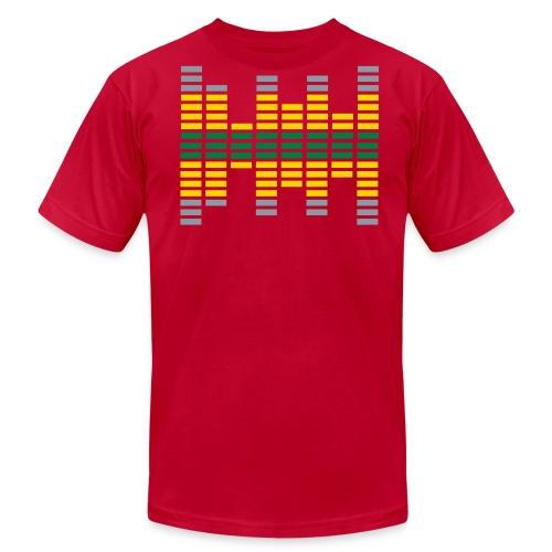Men's Orange Metallic Equalizer T-Shirt - Men's Fine Jersey T-Shirt