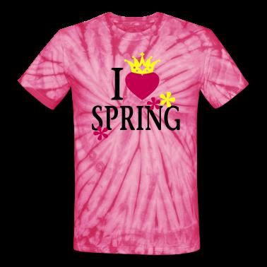 I LOVE SPRING   Unisex Tie Dye T-Shirt