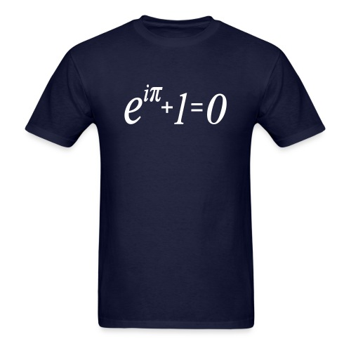 e^i(pi) + 1 = 0 - Men's T-Shirt