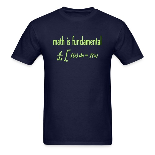 Math is Fundamental - Men's T-Shirt