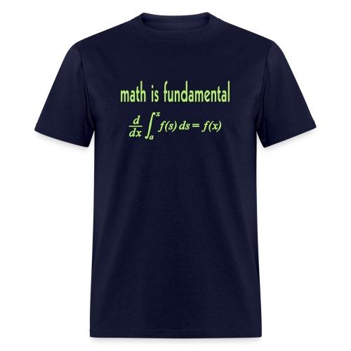 Math is Fundamental - Men's T-Shirt