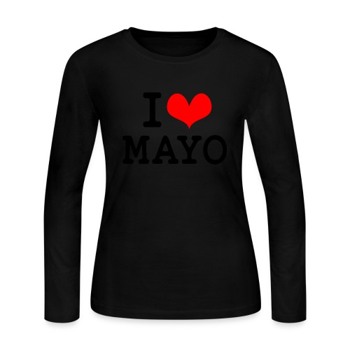 I Love Mayo - Women's Long Sleeve Jersey T-Shirt