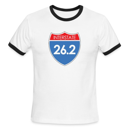 Interstate 26.2 - Men's Ringer T-Shirt
