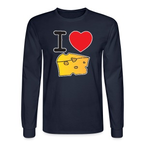 I Heart Cheese - Men's Long Sleeve T-Shirt