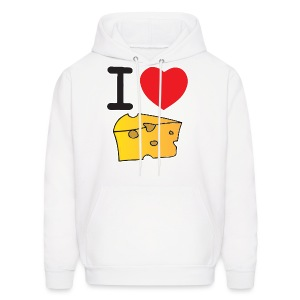 I Heart Cheese - Men's Hoodie
