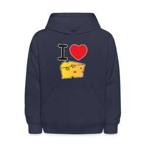 I Heart Cheese - Kids' Hoodie