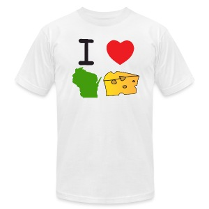 I Heart Wisconsin Cheese - Men's T-Shirt by American Apparel