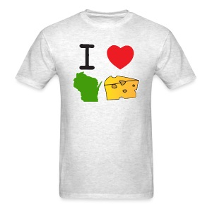 I Heart Wisconsin Cheese - Men's T-Shirt