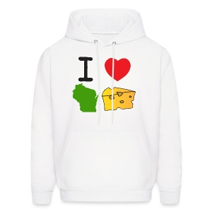 I Heart Wisconsin Cheese - Men's Hoodie