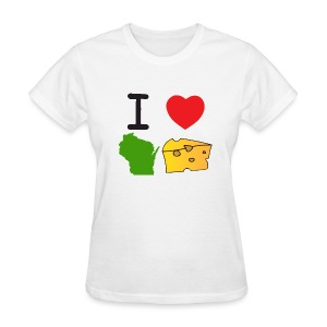 I Heart Wisconsin Cheese - Women's T-Shirt