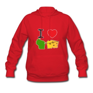 I Heart Wisconsin Cheese - Women's Hoodie
