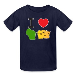 I Heart Wisconsin Cheese - Kids' T-Shirt