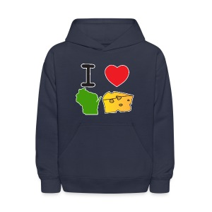 I Heart Wisconsin Cheese - Kids' Hoodie