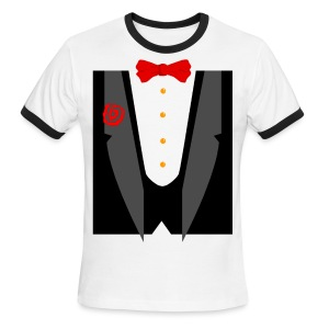 Tux and Tie - Men's Ringer T-Shirt