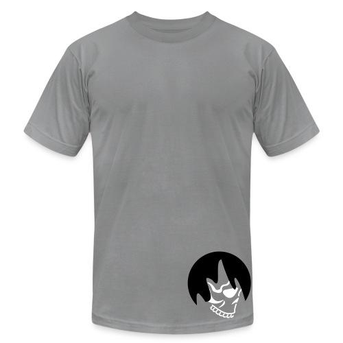 Bro's Slate Shaggy Hair Skull - Men's  Jersey T-Shirt