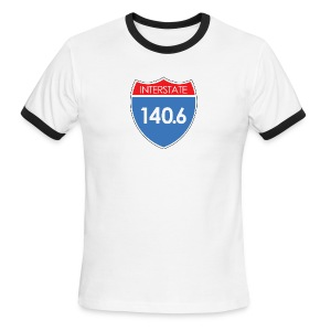 Interstate 140.6 - Men's Ringer T-Shirt