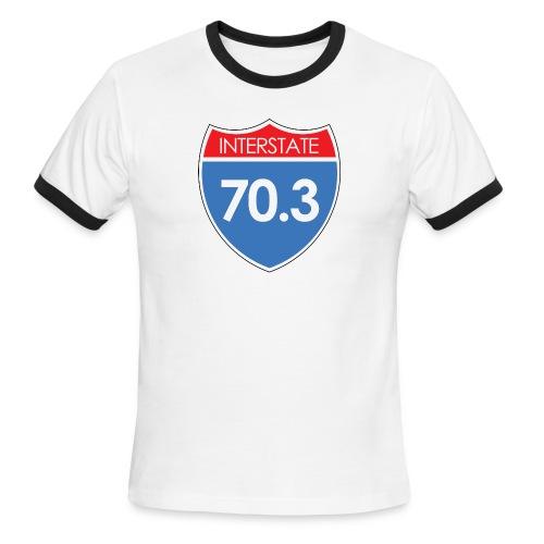 Interstate 70.3 - Men's Ringer T-Shirt