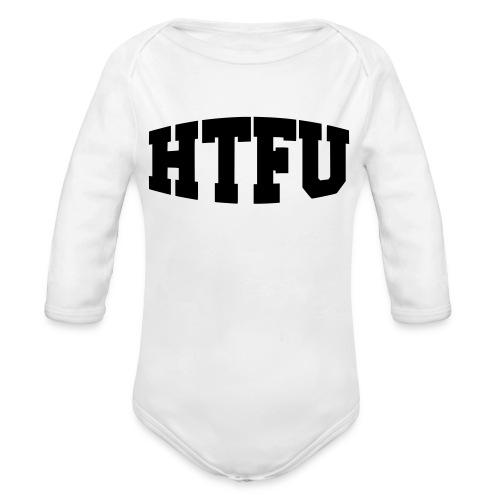 HTFU Bulging - Organic Long Sleeve Baby Bodysuit