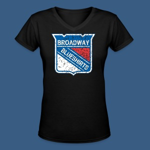 Broadway Blueshirts - Women's V-Neck T-Shirt