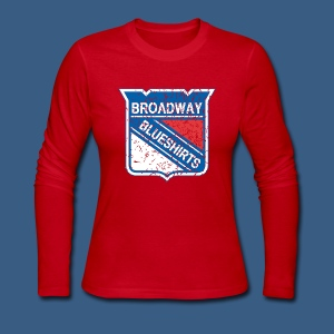 Broadway Blueshirts - Women's Long Sleeve Jersey T-Shirt