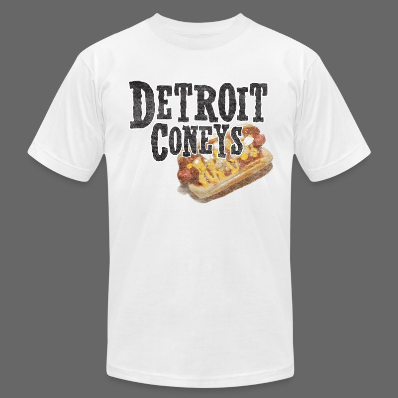 Detroit Coneys Men's American Apparel Tee - Men's T-Shirt by American Apparel